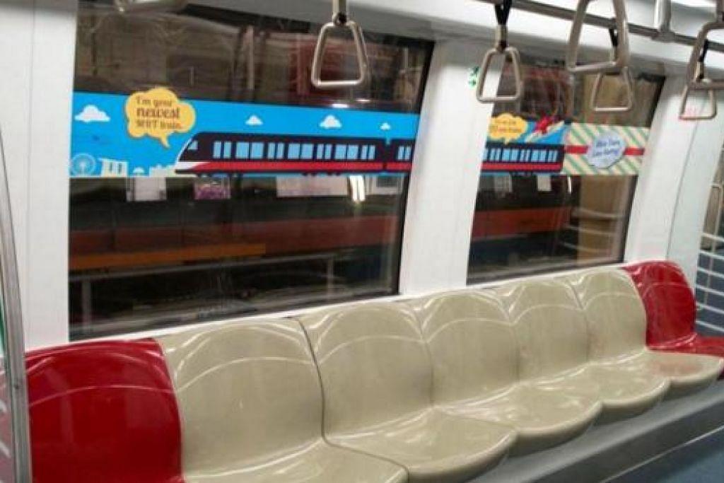 TIDAK SESAK: Dengan penambahan kereta api, penumpang dijangka tidak perlu menunggu lama dan kesesakan di dalam kerata api pula berkurangan. - Foto LTA