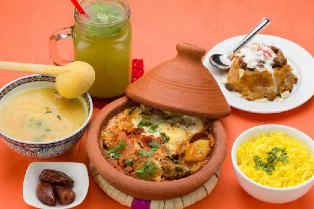 SET MENGENYANGKAN: Inilah set Chafchaouen Tagine untuk mereka yang ingin makan sepuas hati hingga kenyang.