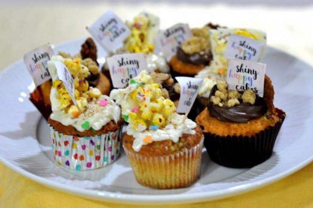 KEK CAWAN PUN ADA: Pelbagai manisan akan dijual demi amal termasuk kek cawan 'popcorn' daripada Shinyhappycakes.