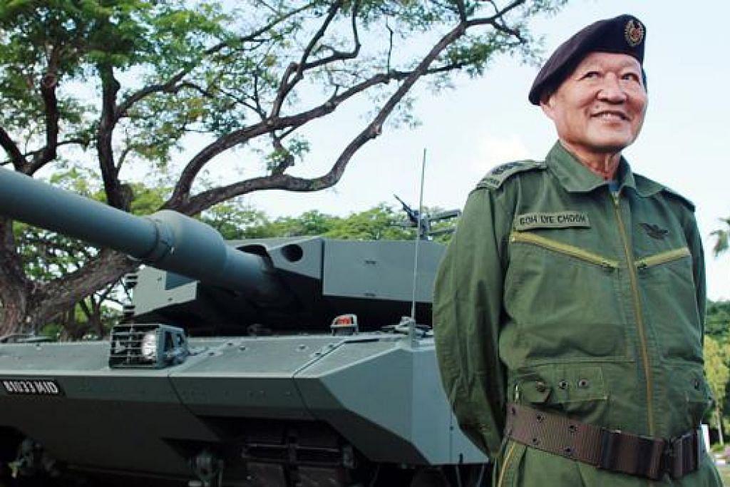 HARGAI PERINTIS: Kolonel (Bersara) Goh Lye Choon, yang mengambil bahagian dalam Kontinjen Kenderaan pertama pada 1969, antara perintis yang akan diiktiraf dalam segmen tersebut. - Foto THE STRAITS TIMES