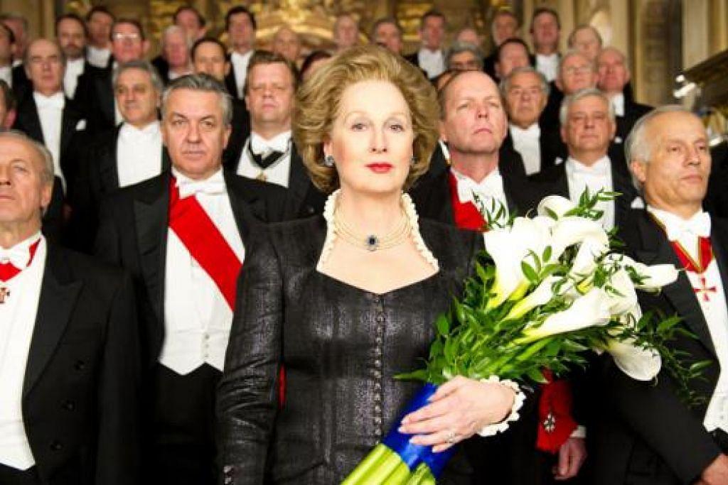 AKTRES BERBAKAT: Filem 'Iron Lady' lakonan Meryl Streep boleh dianggap sebagai salah sebuah filem yang menunjukkan kekuatan wanita dan dilakokan aktres itu dengan cemerlang. - Foto SHAW ORGANISATION