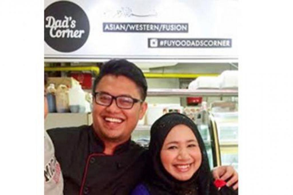 SAMA-SAMA MAJUKAN RESTORAN: Pemilik Dad's Corner, Encik Muhd Hasrat Faddil Samsudin dan isteri, Cik Afidah Ibrahim.