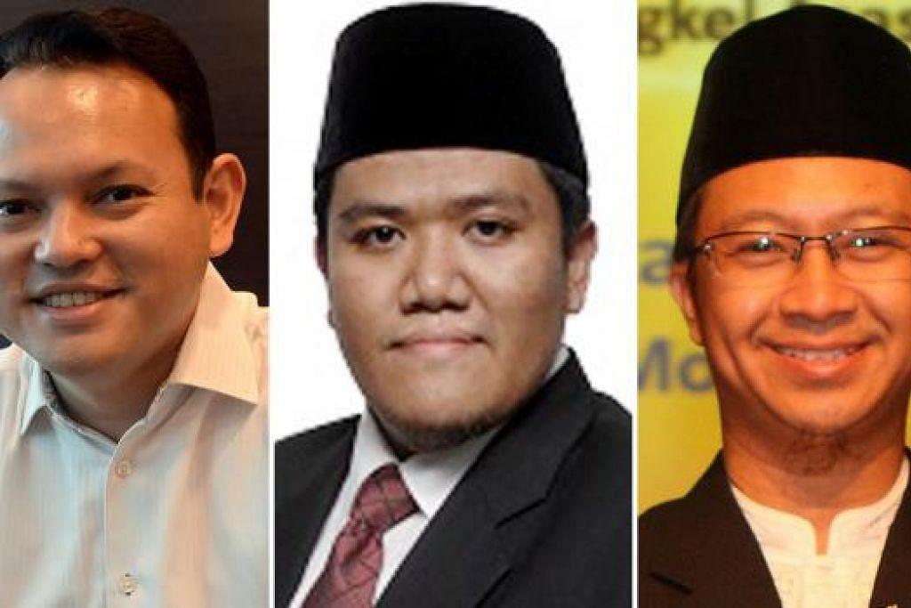 BAKAL ADILI KARYA: Panel juri diketuai Encik Zaqy Mohamad (kiri). Antara anggota lain ialah Ustaz Irwan Hadi Mohd Shuhaimy (tengah) dan Ustaz Fathurrahman Dawoed.