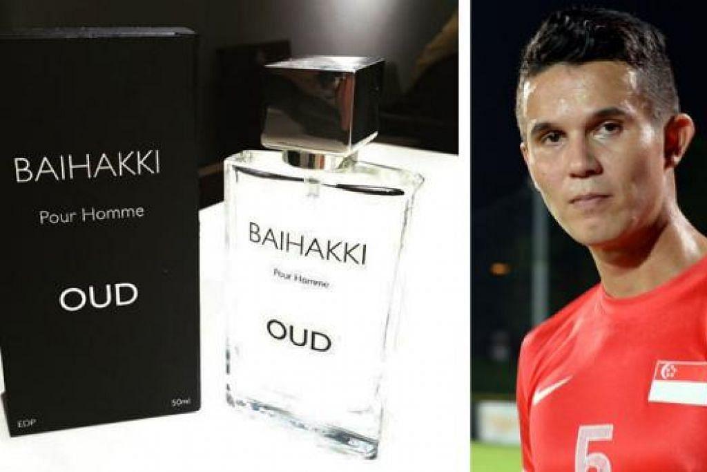 JENAMA BARU: Minyak wangi bagi lelaki jenama Baihakki ini dihasilkan di Perancis dan mengandungi wangian kayu gaharu. - Foto BAIHAKKI KHAIZAN. (Gambar kanan) BAIHAKKI KHAIZAN.