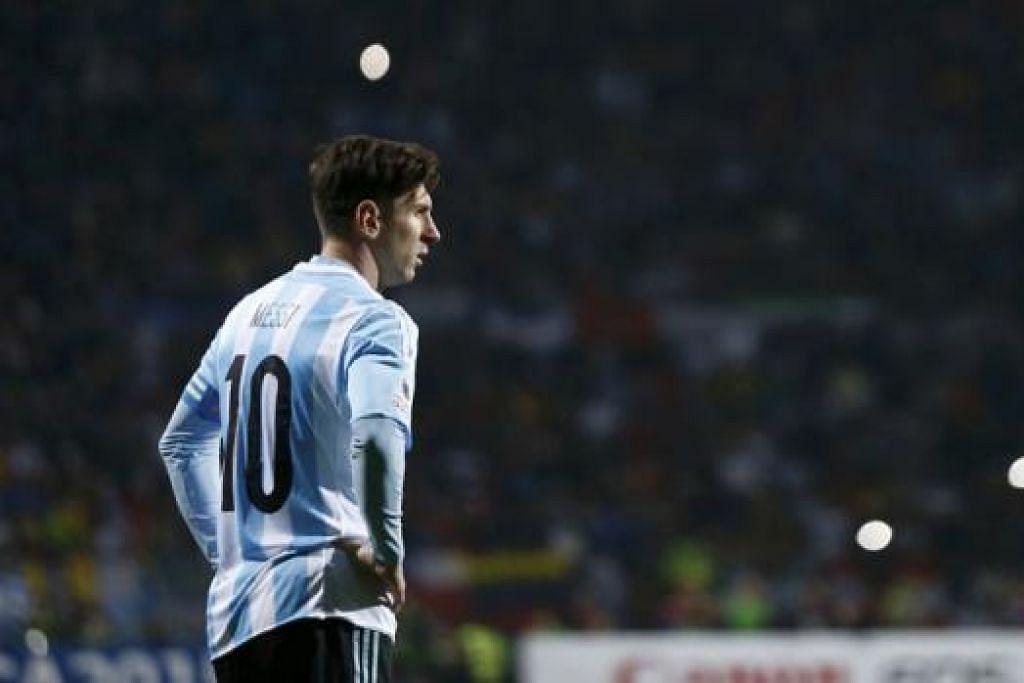 PELUANG CIPTA SEJARAH: Messi boleh memimpin Argentina ke persada bola sepak Amerika Selatan, dengan meraih kejuaraan antarabangsa utama pertama sejak 1993. - Foto REUTERS