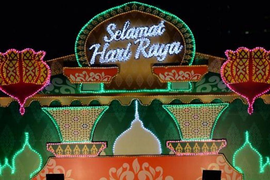 SEMANGAT KAMPUNG: 'Menghidupkan Semula Zaman Kampung' tema lampu Hari Raya tahun ini.