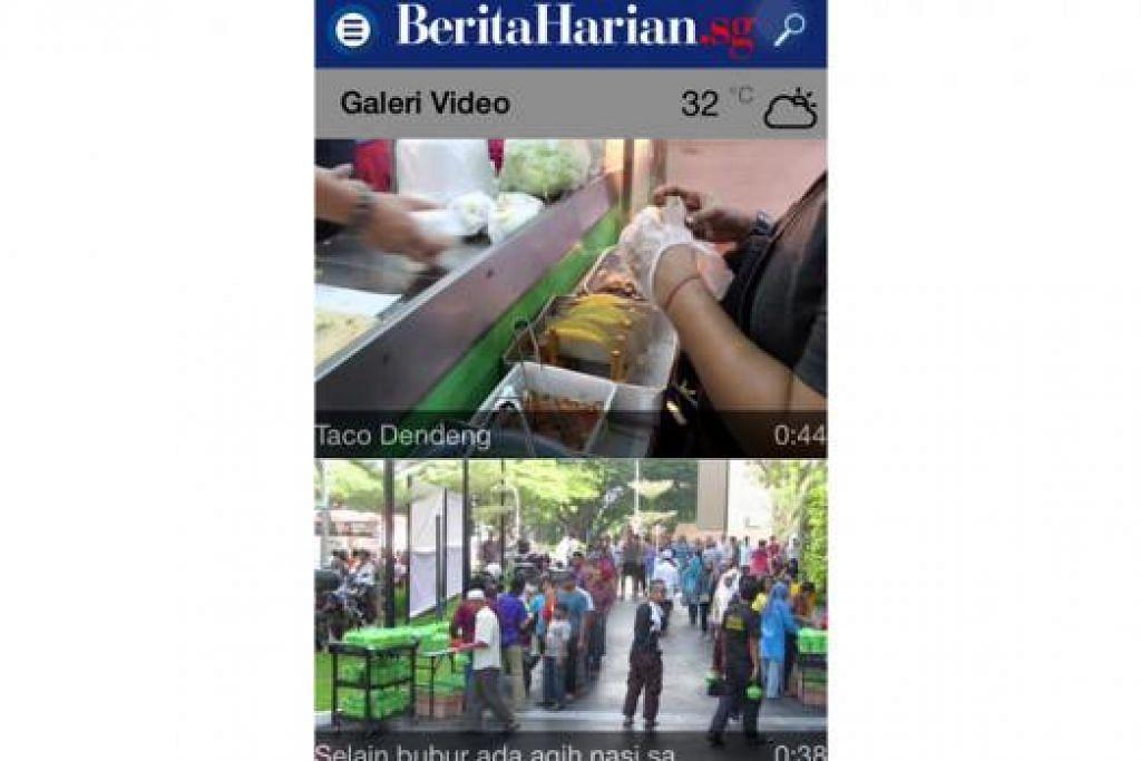 GALERI VIDEO: Pengguna kini dapat menikmati kandungan berita menerusi wadah video di aplikasi bergerak Berita Harian, BH.sg.