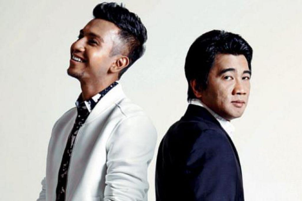 KEMBALI BERAKSI: Taufik Batisah merupakan salah seorang pengadil bersama Ken Lim dalam pertandingan nyanyian realiti 'The Final 1'. - Foto MEDIACORP CHANNEL 5