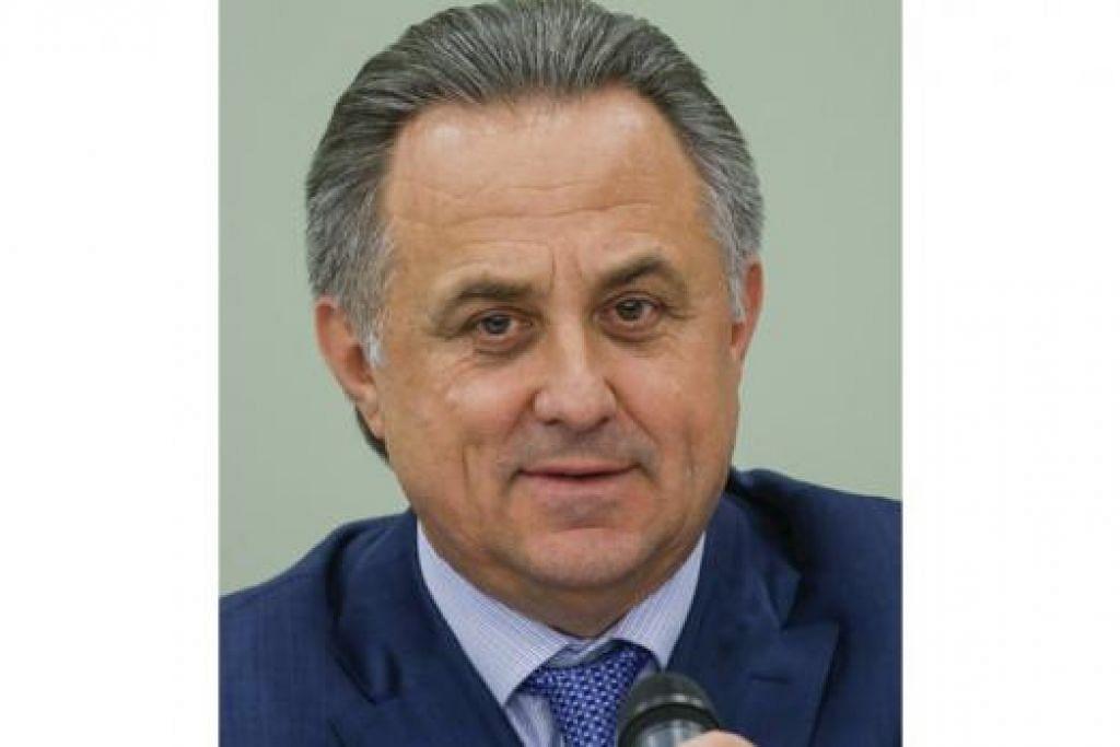 TIDAK BIMBANG: Menteri Sukan Russia, Vitaly Mutko, berkata negaranya tidak menghadapi ancaman ditarik balik hak menganjurkan Piala Dunia 2018. - Foto REUTERS