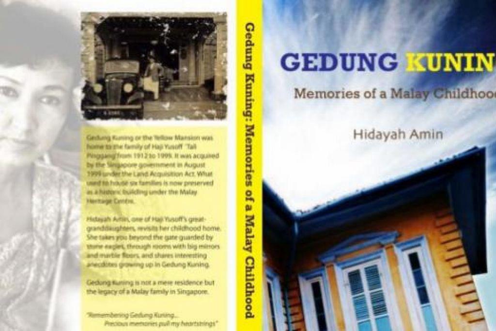 HASRAT MENJAGAT: Cik Hidayah Amin bercita-cita meluaskan penulisan dan penerbitannya untuk khalayak dunia. Tiga bukunya ialah Gedung Kuning (atas), The Mango Tree serta 'Malay Weddings Don't Cost $50'. - Foto-foto fail