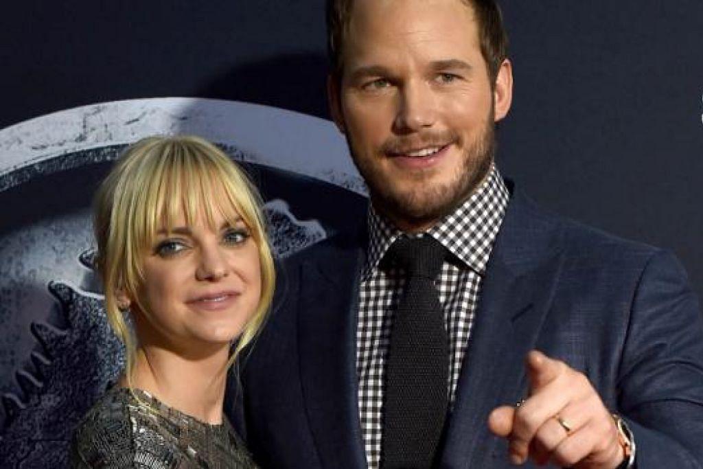 DULU SUKA MAKAN: Chris Pratt tidak lagi membenarkan isterinya, Anna Faris, memasak hidangan lazat yang pernah dimasaknya dahulu. - Foto AFP