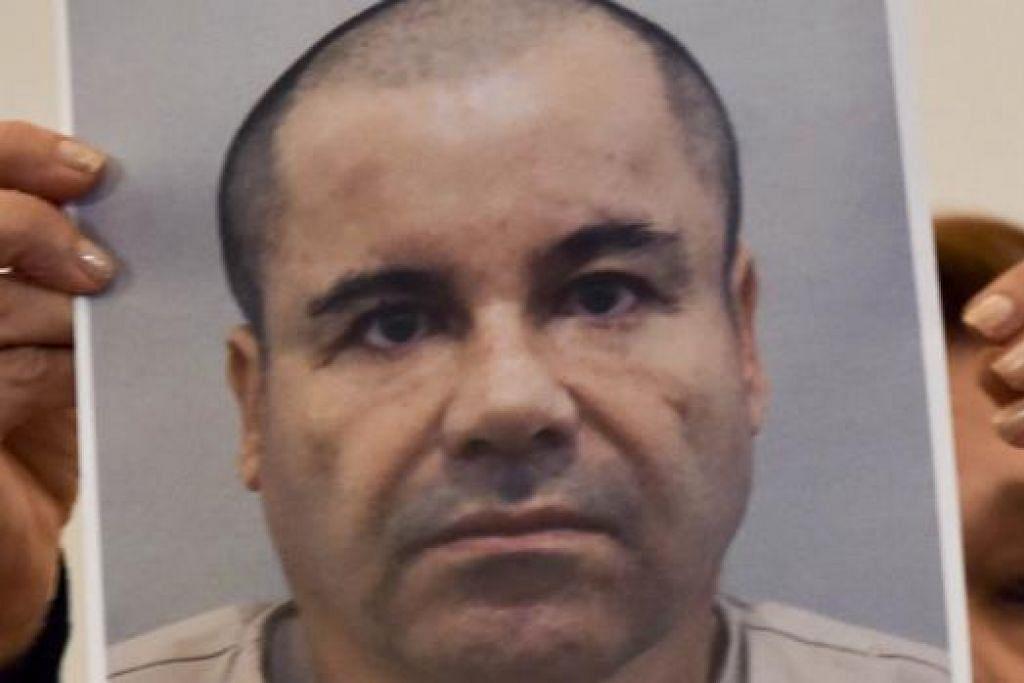 """RAJA DADAH: Joaquin """"El Chapo"""" Guzman kini diburu Mexico dan Amerika Syarikat. - Foto AFP"""