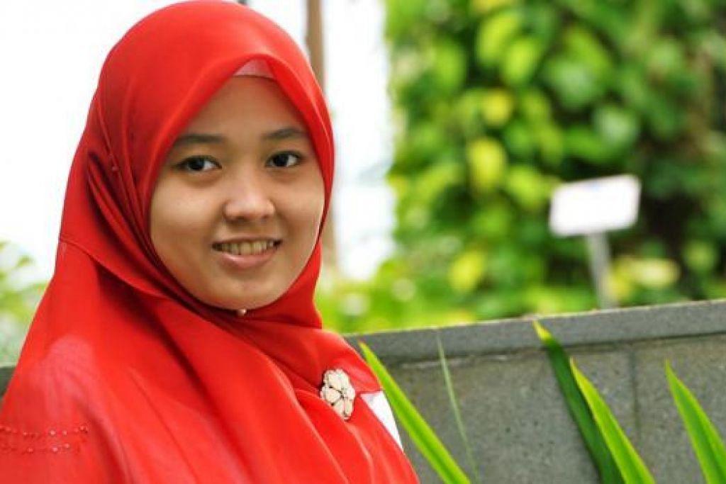 CEMERLANG: Cik Siti Nurnadhirah, yang gemar perhatikan manusia, mahu menyumbang kepada dunia kajian berkaitan ingatan dan mengubah hidup masyarakat. - Foto KHALID BABA