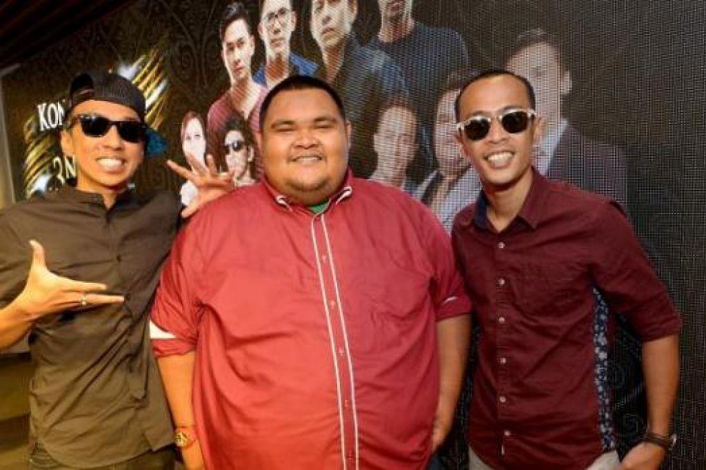 KE KOTA SINGA: Kumpulan trio Bocey (gambar), Harith Iskandar dan Afdlin Shauki antara pelawak yang bakal menjayakan pementasa komedi 'Lawak Ker Der'. - Foto-foto fail