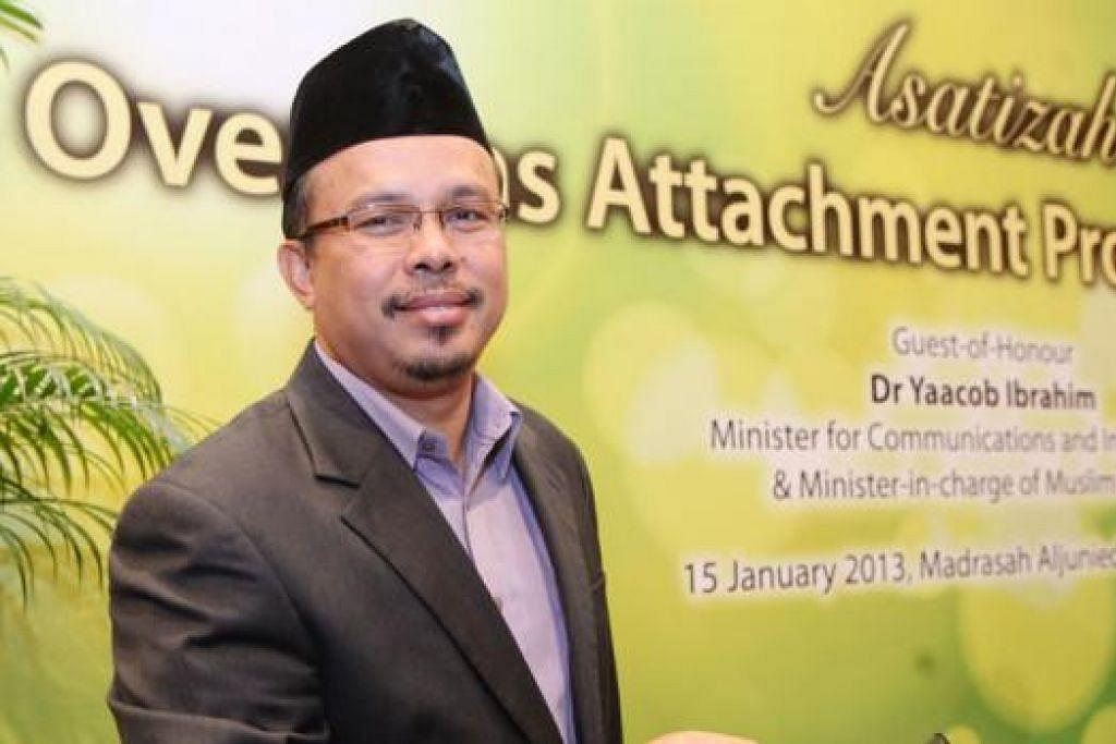 USTAZ MOHD MURAT MD ARIS: Ingin galak Muslim Singapura mempergiat usaha mengamalkan ciri positif Islam dalam konteks negara sekular. - Foto TUKIMAN WARJI