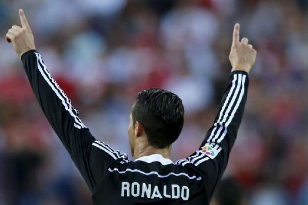 HANYA MEREKA YANG DI LUAR KEMAMPUAN ARSENAL: penyerang Argentina Barcelona, Lionel Messi, dan (atas), penyerang Portugal Real Madrid, Cristiano Ronaldo. - Foto REUTERS