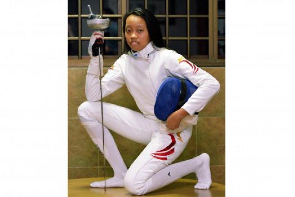 IMPIAN TINGGI MELANGIT: Kiria Tikanah mendambakan peluang mewakili Singapura di Sukan Olimpik satu hari nanti. - Foto-foto KHALID BABA