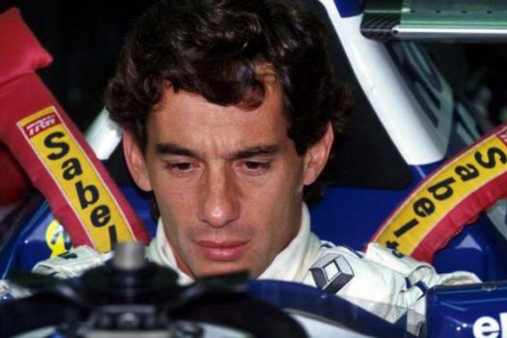 AYERTON SENNA: Pemandu F1 Brazil ini yang dianggap sebagai legenda mati apabila keretanya merempuh konkrit di Grand Prix San Marino pada 1994. - Foto SUTTON MOTORSPORT IMAGES