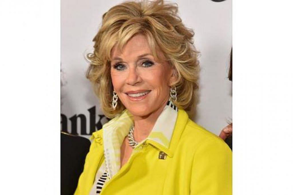 LEGA MASIH DIBERI PELUANG: Jane Fonda menganggap dirinya bernasib baik kerana masih bekerja pada usia 77 tahun. - Foto AFP
