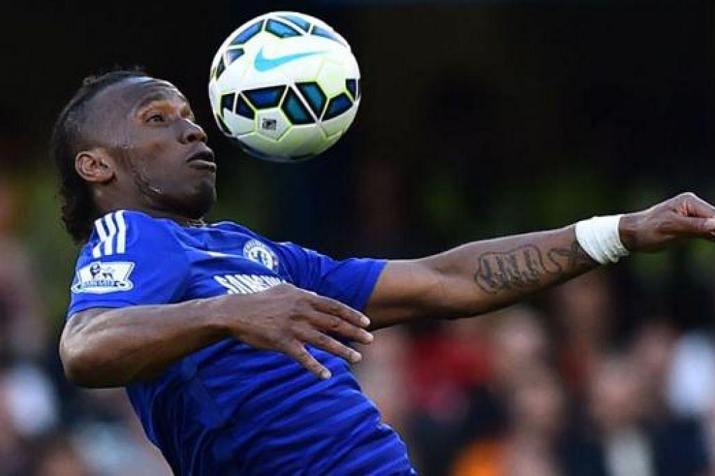 TUKAR ANGIN: Bekas bintang Chelsea, Didier Drogba, menandatangani kontrak 18 bulan dengan Montreal Impact yang beraksi di Liga Bola Sepak Utama (MSL) di Amerika Syarikat. - Foto AFP