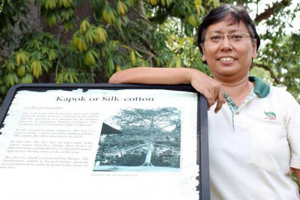 HIDUPNYA DENGAN TANAMAN: Dr Nura, Penolong Pengarah Hortikultur dan Rekod Tumbuhan, mengetuai tujuh kakitangan dalam memastikan kawasan Tapak Warisan Unesco itu berada dalam keadaan yang baik. - Foto-foto SITI AISYAH NORDIN