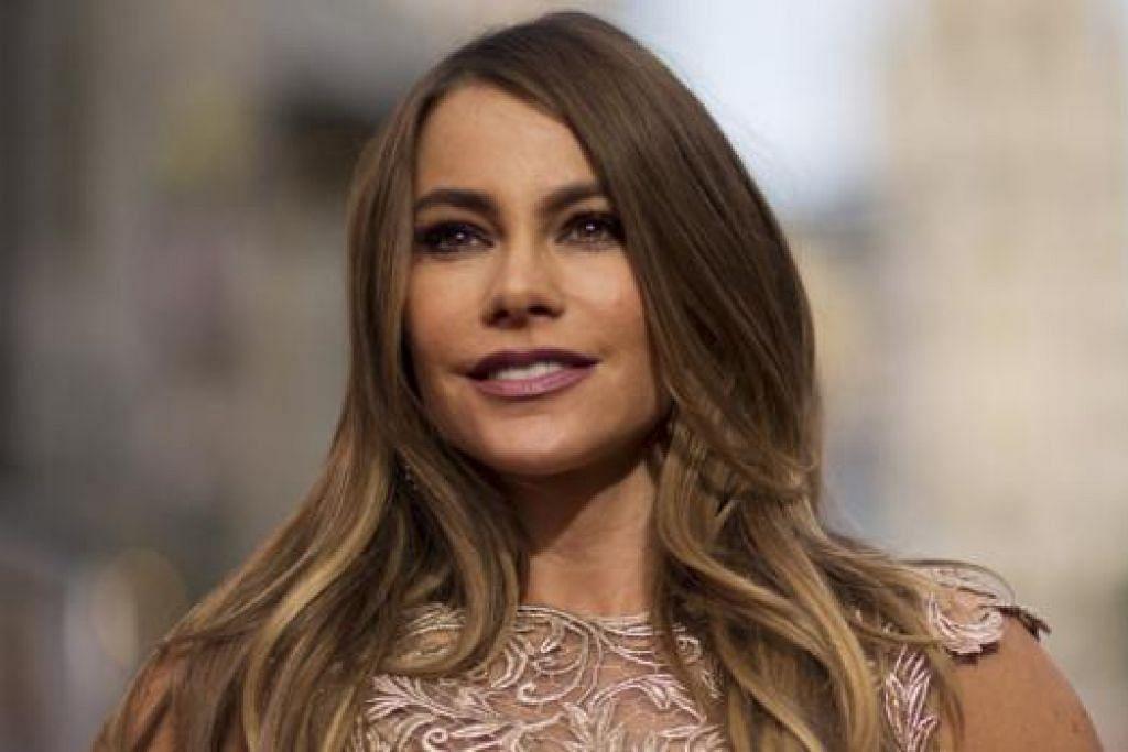 BERNASIB BAIK: Sofia Vergara menganggap dirinya amat bernasib baik sejak berlakon dalam 'Modern Family' sehingga kehidupan dan kerjayanya dianggap berjaya. - Foto REUTERS
