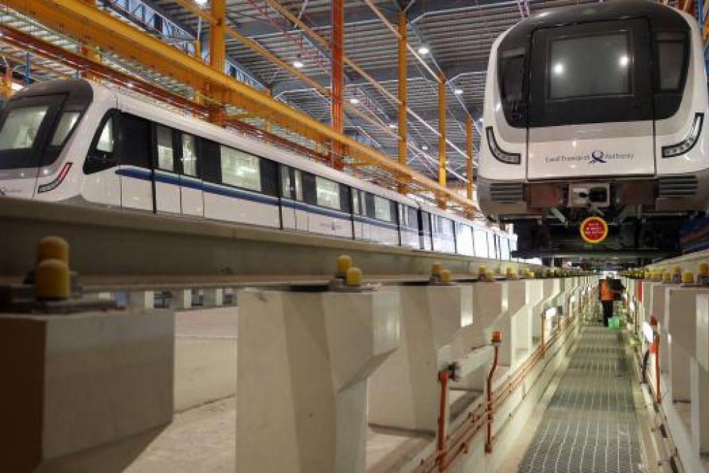 Depot MRT Gali Batu di Woodlands akan menyediakan khidmat penyenggaraan bagi Laluan Downtown.