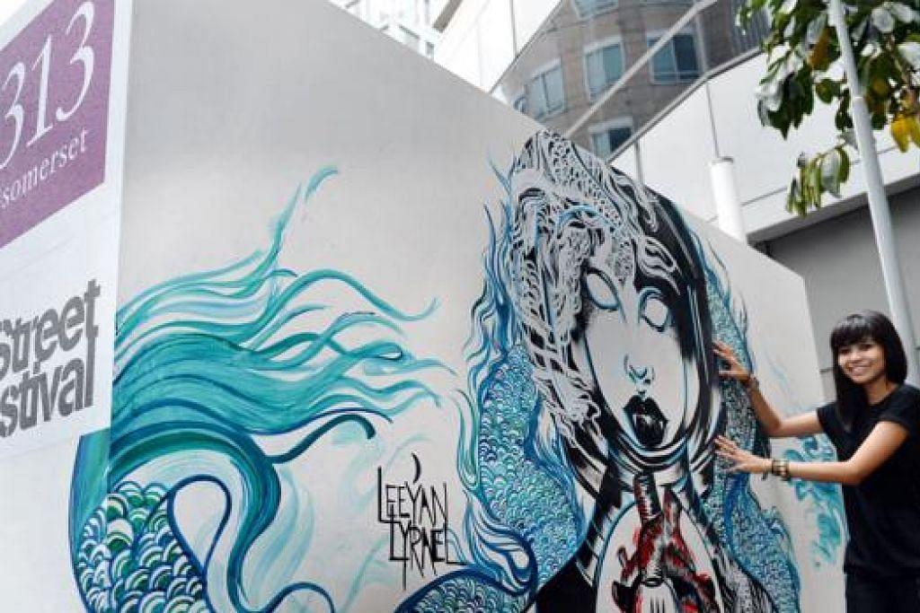 WANITA PUN BOLEH: Cik Nur Liyana Zainudin atau Leeyan Lyrael ingin mengetengahkan grafiti yang memperkasa wanita dengan galakan bahawa mereka pun mampu bergelar wirawati pencetus inspirasi hasil nilai-nilai yang dijadikan sandaran. - Foto M.O. SALLEH