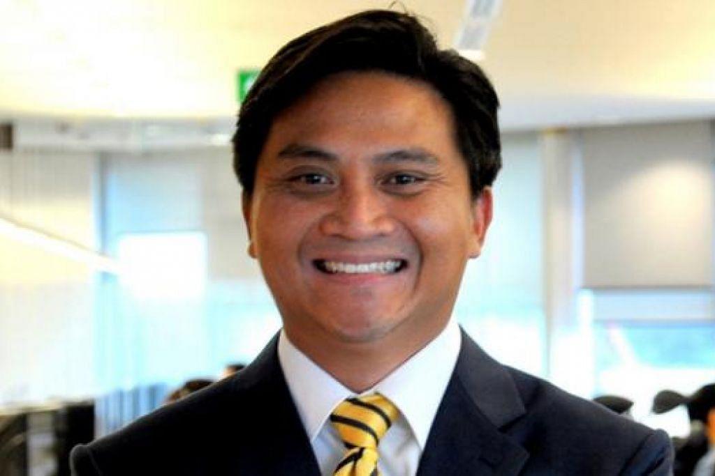 MUKA BARU: Spekulasi kemungkinan bertambahnya satu lagi AP Melayu timbul kerana sejauh ini tiga calon Melayu parti pemerintah dilihat giat dalam kawasan undi tertentu, Encik Amrin Amin di GRC Sembawang, Cik Rahayu Mahzam di GRC Jurong, Encik Saktiandi Supaat (gambar) di GRC Bishan-Toa Payoh dan seorang lagi, Encik Shamsul Kamar, yang dijangka bertanding di GRC Aljunied. - Foto-foto fail