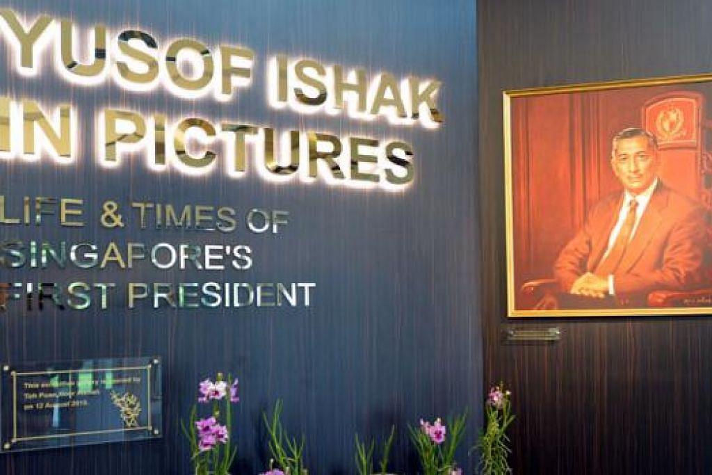 SINGKAP SEJARAH: Pameran gambar mengenai Allahyarham Yusof Ishak, yang bertempat di perpustakaan Iseas-Institut Yusof Ishak, menyusuri kisah perjalanan hidupnya, ideal beliau dan sumbangan beliau kepada Singapura.