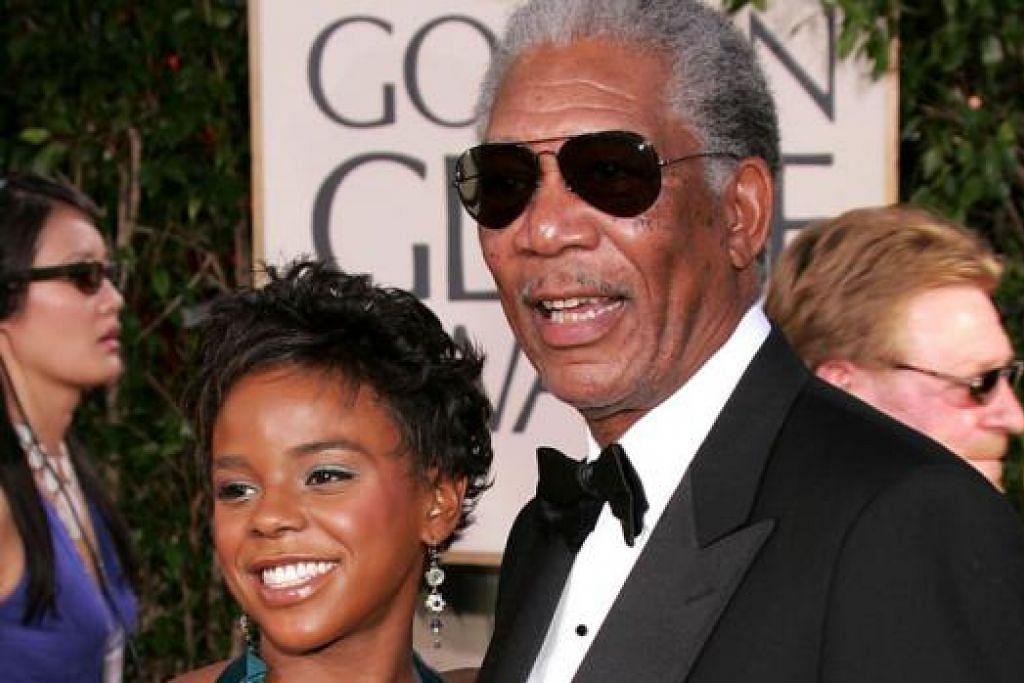 BERSAMA DATUK: Cik Hines, cucu Freeman, ditemui mati di tepi jalan di New York pagi kelmarin. - Foto AFP