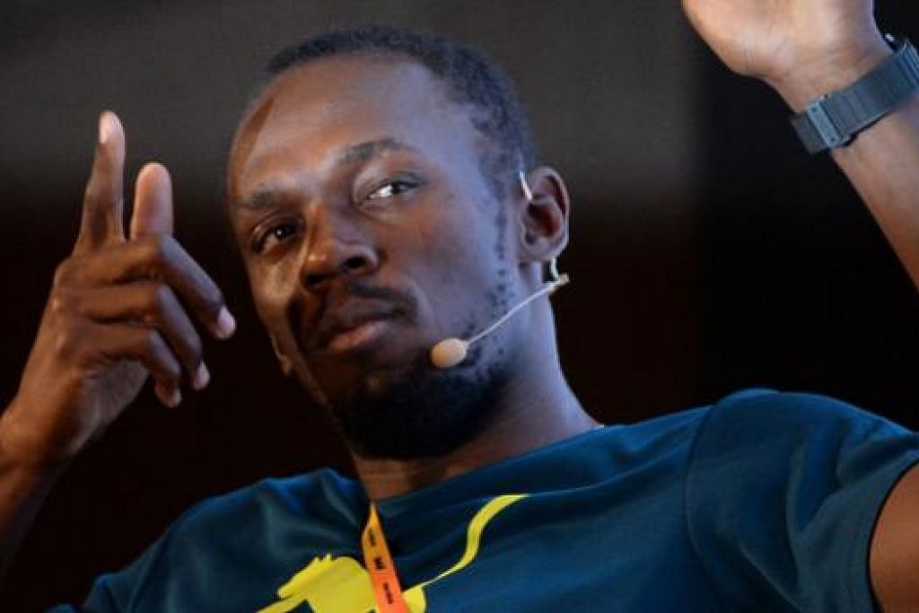 AZAM PERTAHAN KEJUARAAN: Raja pecut dunia, Usain Bolt, menghadiri satu acara promosi sempena Kejohanan Dunia yang berlangsung di Beijing pada Sabtu ini.
