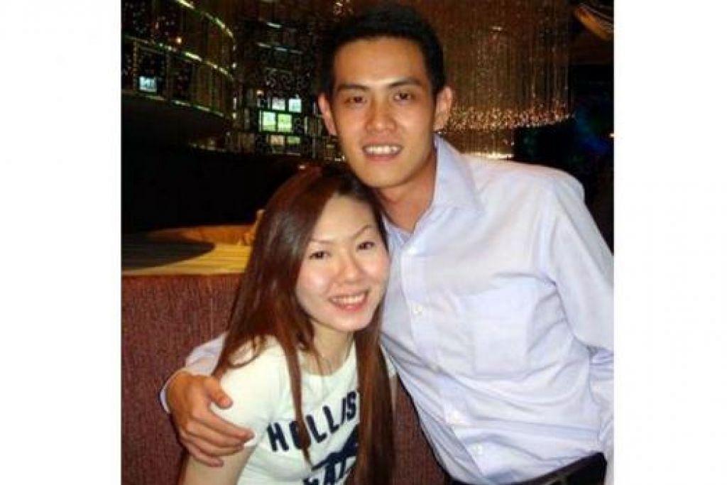 TINGGAL KENANGAN: Encik Ng bergambar bersama isterinya, Cik Liu, yang terbunuh dalam kejadian letupan bom di Bangkok kelmarin. - Foto INTERNET