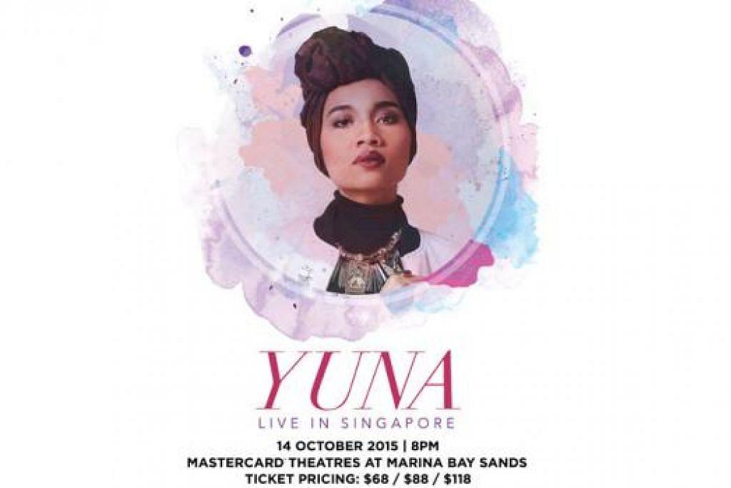 KONSERT EKSKLUSIF: Peminat Yuna di Singapura bakal disajikan lagu daripada album barunya. - Foto LIVESCAPE SINGAPORE