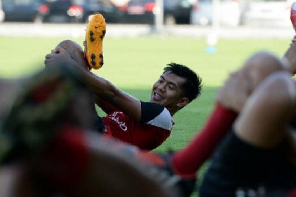 GOL KEDUA: Khairul Amri menyumbat gol kedua pasukan di JBS. - Foto Fail