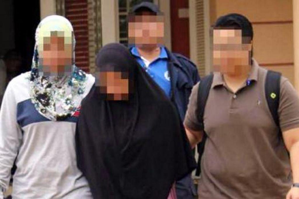 KAUM HAWA JUGA DITAHAN: Seorang daripada dua suspek wanita adalah antara 10 yang ditahan dan mereka berusia antara 24 dengan 42 tahun.