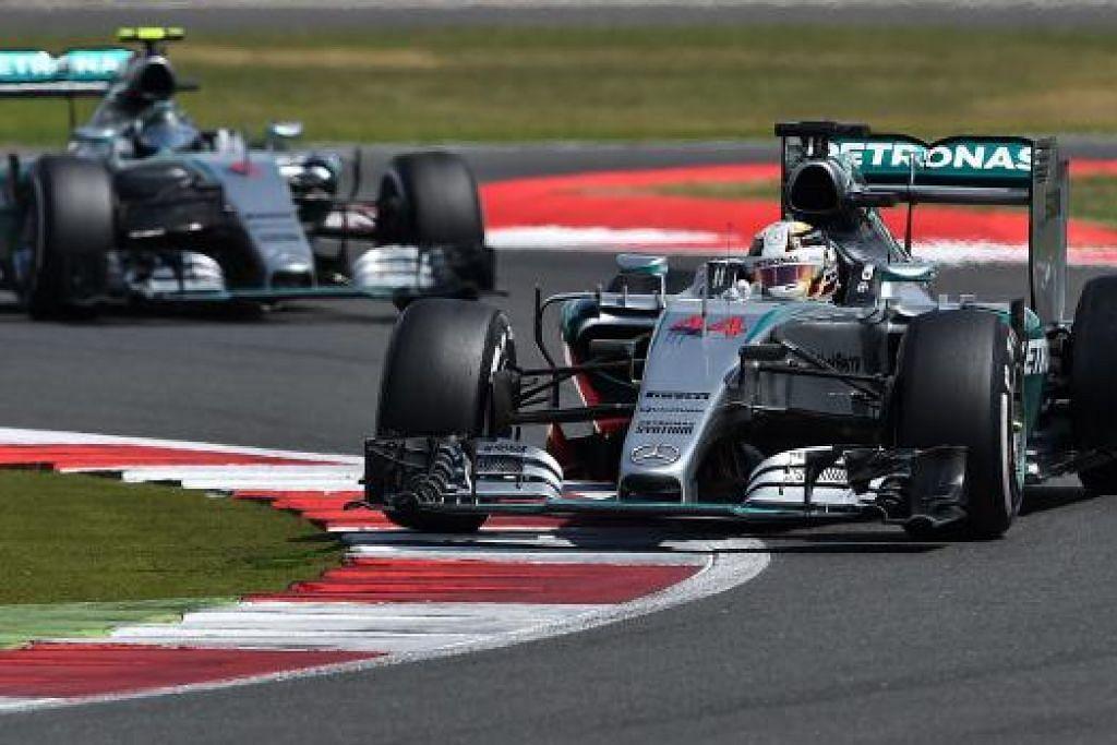 SOALAN UTAMA: Bolehkah Lewis Hamilton (depan) dan Nico Rosberg mencatat kemenangan satu dua untuk Mercedes di Grand Prix Belgium hari ini? - Foto-foto AFP