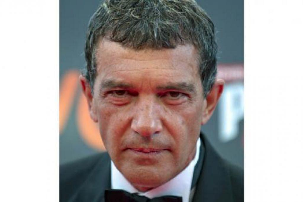 SINGKAP NASIB PELOMBONG: Antonio Banderas bakal muncul dalam sebuah filem baru berjudul 'The 33' yang mengisahkan tentang nasib 33 pelombong Chile yang pernah terperangkap di bawah tanah lebih dua bulan lamanya. - Foto AFP