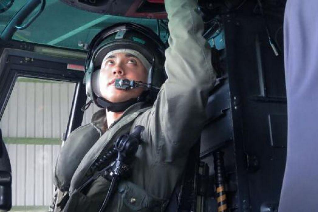 KAPTEN MUHAMMAD AZLAN ABDUL LATIFF: Juruterbang helikopter Super Puma. Kapten Azlan pernah menerbangkan rombongan PM Lee semasa di Brunei. – Foto MINDEF
