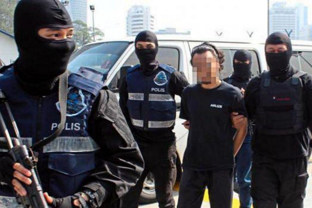 Seorang suspek anggota ISIS ditangkap polis Malaysia bulan lalu kerana dipercayai sedang merancang melakukan beberapa serangan di Lembah Klang di Kuala Lumpur. Gambar The Star