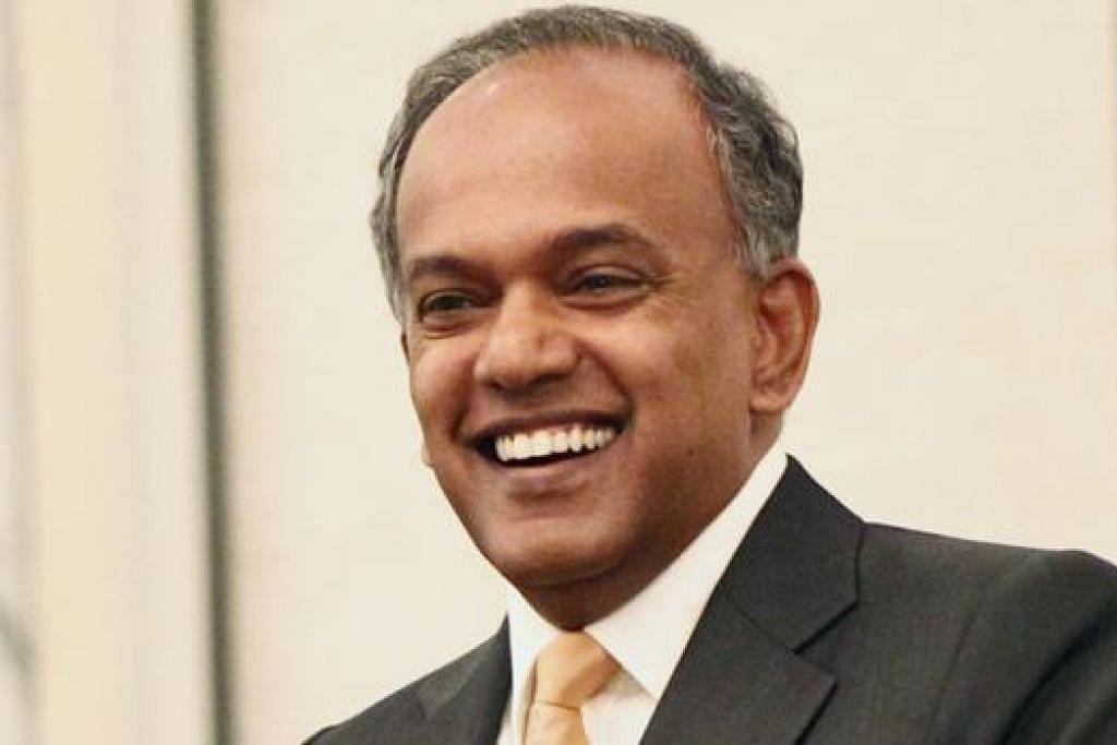ENCIK K. SHANMUGAM: Merasmikan Minggu Hartanah Intelektual (IP) di Marina Bay Sands semalam. - Foto fail