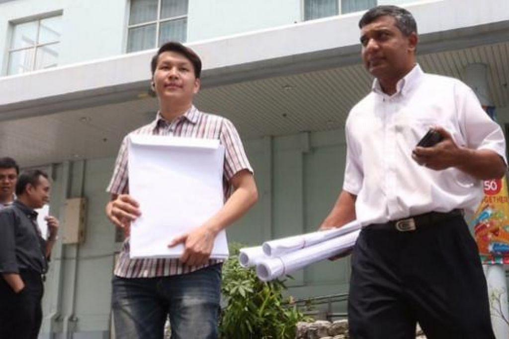 Encik Andy Zhu dan Encik Kumar Appavoo antara calon RP bagi GRC West Coast. Gambar The Straits Times