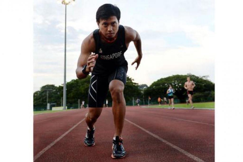 DUTA ACARA LARIAN 'RUN FOR HOPE': Pelari pecut nasional, Encik Muhammad Amirudin Jamal. - Foto fail