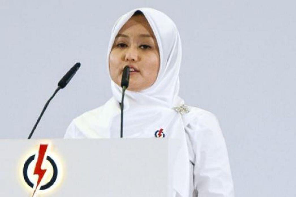 BERSEDIA HADAPI CABARAN: Muka baru PAP yang akan bertanding di GRC Jurong, Cik Rahayu, bersedia menghadapi apa pun cabaran kerana yakin akan niat dan tujuannya berjuang demi kebaikan warga Singapura. - Foto WANBAO