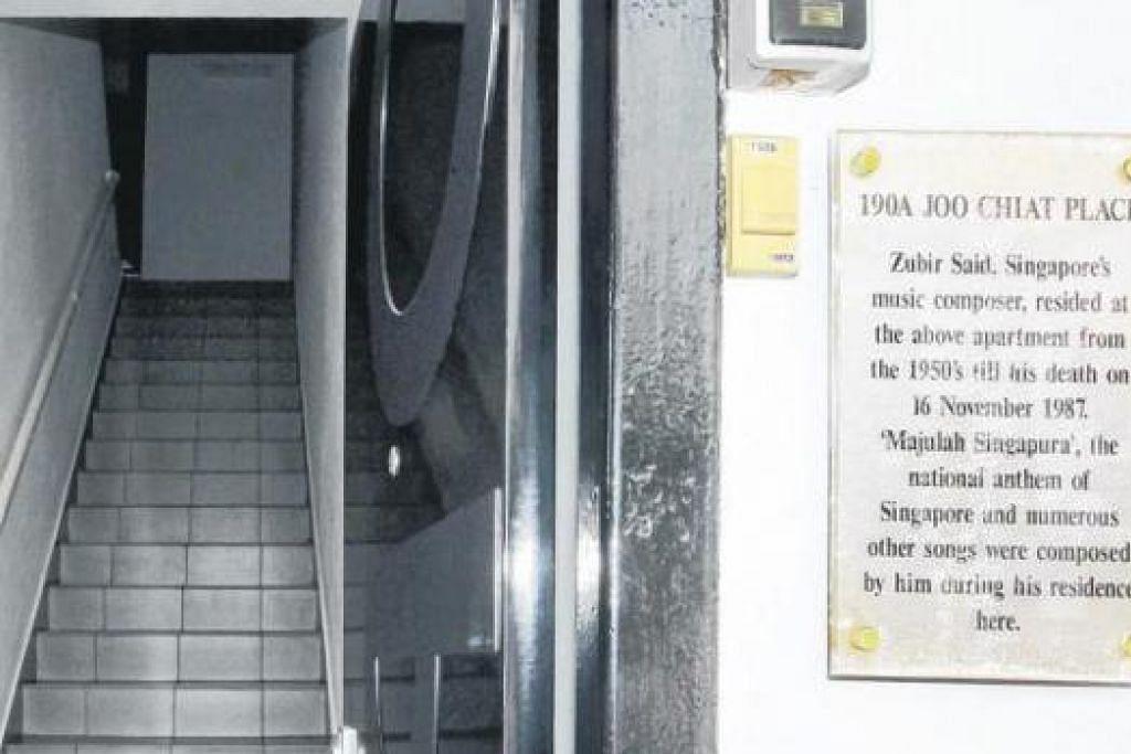 RUMAH BERSEJARAH: Rumah sewaan lama Pak Zubir Said di 190A Joo Chiat Place sehingga akhir hayatnya.