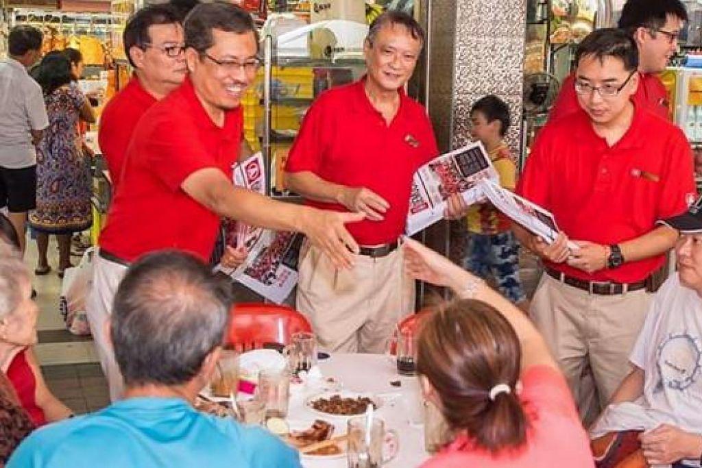 SEMAKIN SIBUK: Itulah yang dirasakan Encik Damanhuri (kiri) menjelang Hari Penamaan calon dan seluruh proses persiapan pilihan raya. - Foto SDP