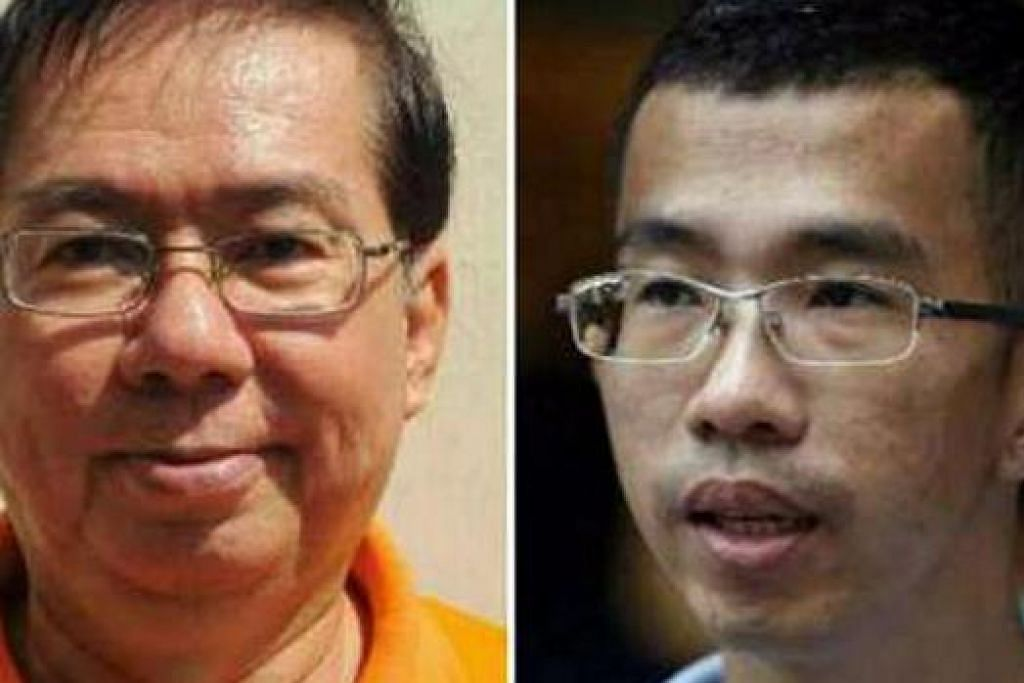 CALON PEMBANGKANG: Encik Cheo Chai Chen (kiri) daripada NSP dan Encik Bernard Chen daripada WP akan bersaing dengan Cik Tan Pei Ling daripada PAP bagi merebut kerusi SMC MacPherson.