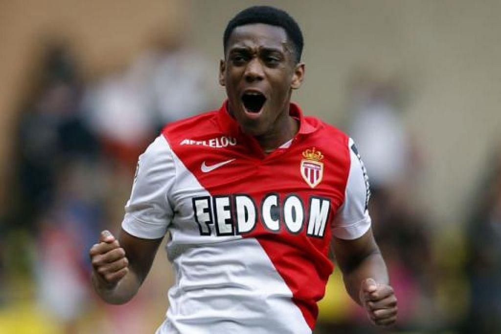 ANTHONY MARTIAL: Corak permainan penyerang muda berusia 19 tahun ini sama dengan pemain legenda Arsenal, Thierry Henry. - Foto AFP