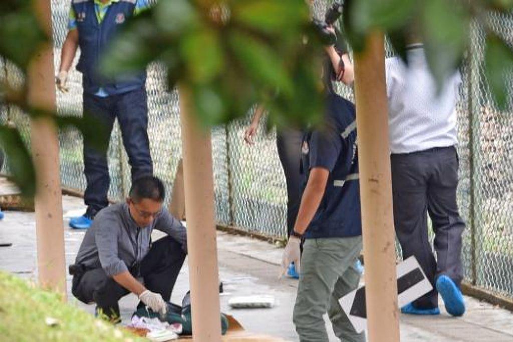 PEMBUNUHAN DI ANG MO KIO: Polis masih menjalankan siasatan yang boleh mendakwa seorang lelaki berumur 39 tahun atas kesalahan membunuh lelaki berumur 48 tahun. - Foto SHINMIN