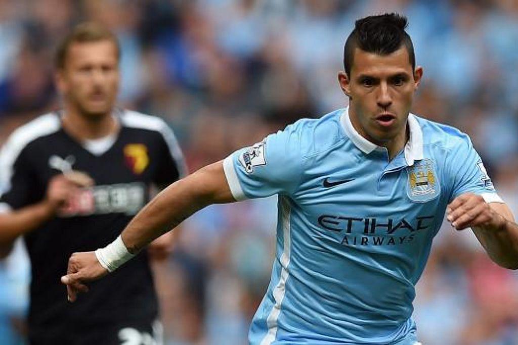 SERGIO AGUERO: Antara penyerang yang paling disegani dalam Liga Perdana England ketika ini. – Foto AFP